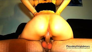 Oops! Pulsating Cream Pie and Sexy Cowgirl Sex [homemade Sextape]